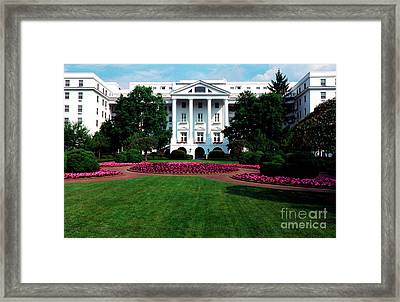 The Greenbrier Framed Print by Thomas R Fletcher