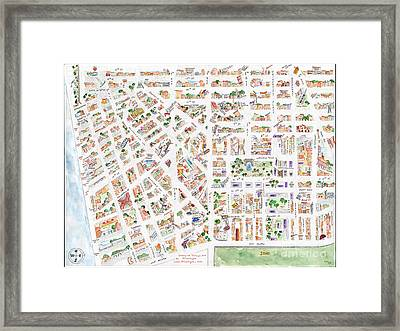 The Greenwich Village Map Framed Print