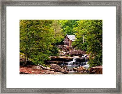 The Grist Mill Painted  Framed Print by Steve Harrington