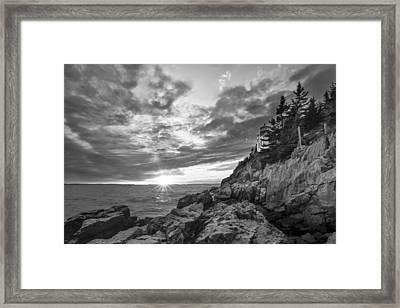 The Harbor Dusk II Framed Print by Jon Glaser