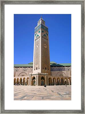 The Hassan II Mosque Grand Mosque With The Worlds Tallest 210m Minaret Sour Jdid Casablanca Morocco Framed Print