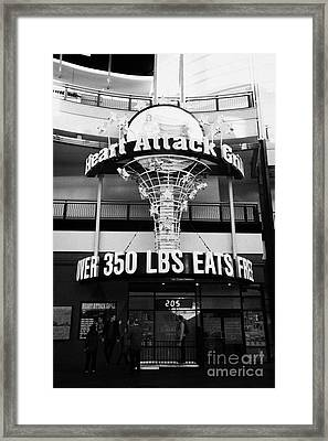 the heart attack grill restaurant freemont street downtown Las Vegas Nevada USA Framed Print
