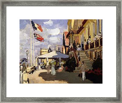 The Hotel Des Roches Noires At Trouville Framed Print