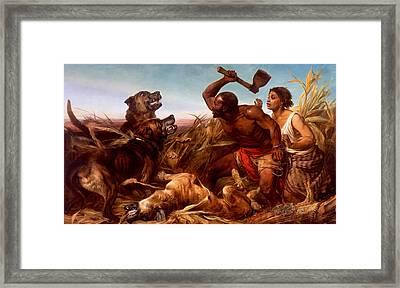 The Hunted Slaves Framed Print