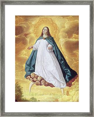 The Immaculate Conception Framed Print by Francisco de Zurbaran
