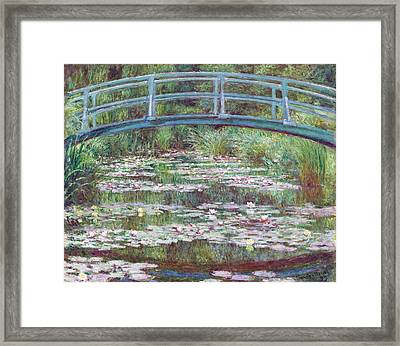 The Japanese Footbridge Framed Print by Claude Monet