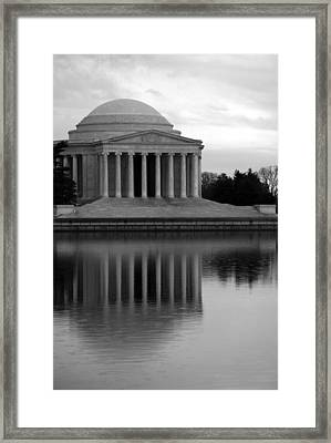 Framed Print featuring the photograph The Jefferson Memorial by Cora Wandel