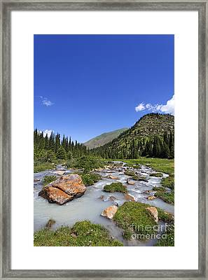 The Jeti Oghuz Valley In Kyrgyzstan Framed Print by Robert Preston