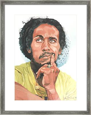 The King Of Reggae Framed Print by Max CALLENDER