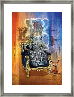 The King Framed Print by Russell Pierce