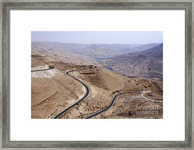 The Kings Highway At Wadi Mujib Jordan Framed Print by Robert Preston