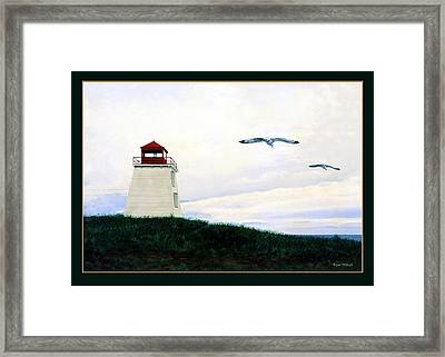The Lighthouse Framed Print by Ron Haist