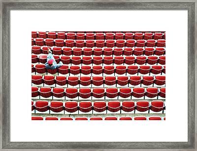The Lone Fan Framed Print by Allen Beatty