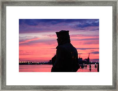 The Lone Sailor Framed Print