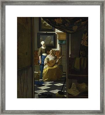 The Love Letter Framed Print by Johannes Vermeer