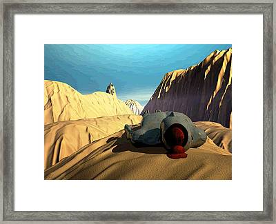 Framed Print featuring the digital art The Midlife Dreamer by John Alexander