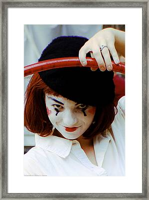 Framed Print featuring the photograph The Mime by Michael Nowotny
