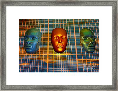 The Modern Face Of Robotics Framed Print by Mark Stevenson