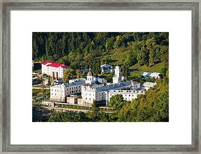 The Monastery Of Bistrita In Wallachia Framed Print by Martin Zwick