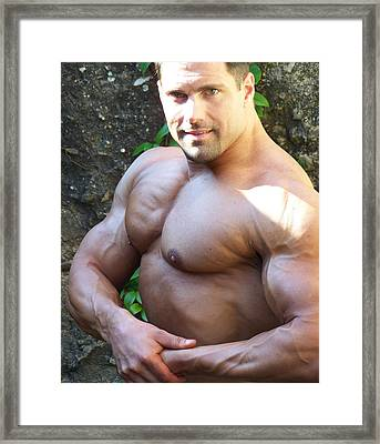The Muscle Poser Framed Print by Jake Hartz