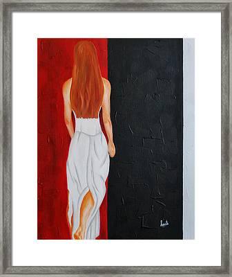 The Mystery Woman Framed Print