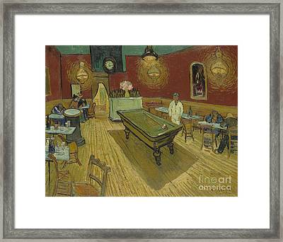 The Night Cafe Framed Print by Vincent Van Gogh