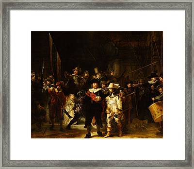 The Night Watch Framed Print by Rembrandt Van Rijn