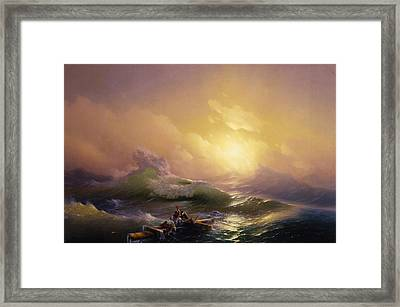 The Ninth Wave Framed Print by Celestial Images