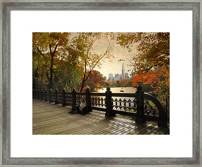 The Oak Bridge Framed Print