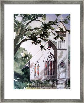 The Old Church Framed Print by Mary Lynne Powers