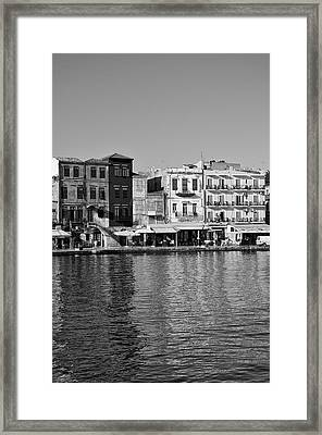 The Old Port Of Chania City Framed Print