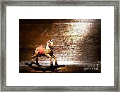The Old Rocking Horse In The Attic Framed Print