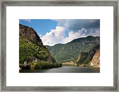 The Olt Gorge Through The Carpathian Framed Print