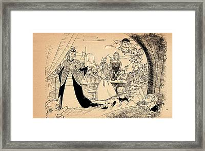 Framed Print featuring the drawing The Palace Balcony by Reynold Jay