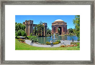 The Palace Of Fine Arts In The Marina District Of San Francisco Framed Print