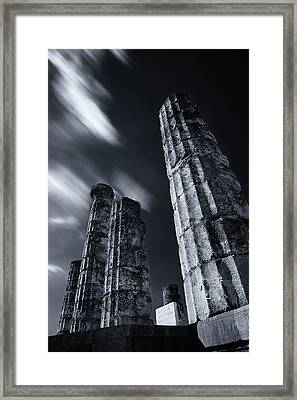 Framed Print featuring the photograph The Pillars Of Apollo's Temple by Micah Goff