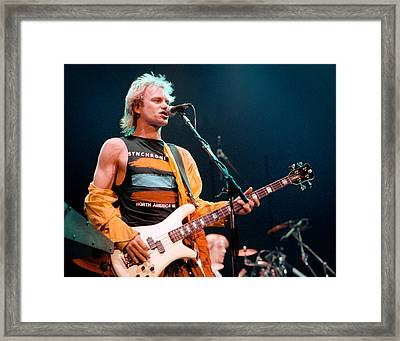 The Police Sting 1984 Framed Print by Chuck Spang