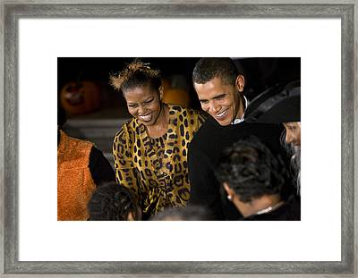 The President And First Lady Framed Print by JP Tripp