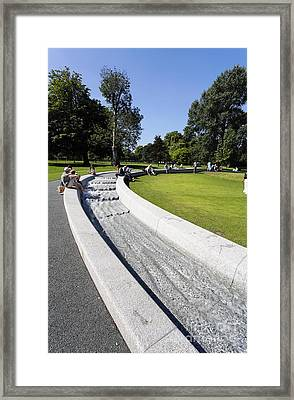 The Princess Diana Memorial Fountain In Hyde Park London England Framed Print by Robert Preston