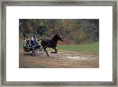 The Race Is On Framed Print by Skip Willits
