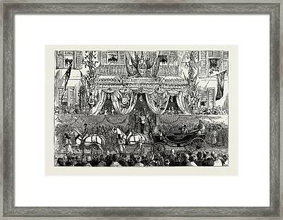 The Reception Of The Prince Of Wales At Cairo Framed Print by Litz Collection