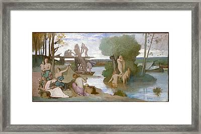 The River Framed Print by Pierre Puvis de Chavannes