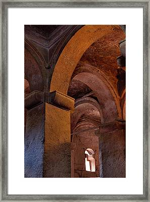 The Rock-hewn Churches Of Lalibela Framed Print