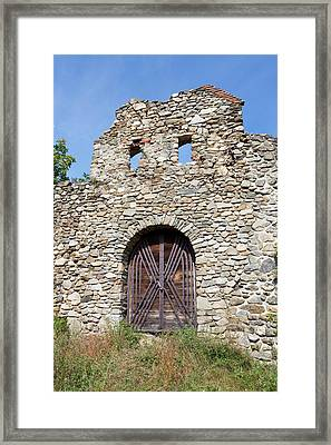 The Romantic Church Of Cisnadioara Framed Print