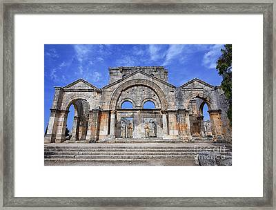 The Ruins Of The Church Of St Simeon Syria Framed Print
