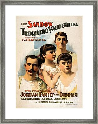 The Sandow Trocadero Vaudevilles, 1894 Framed Print by Photo Researchers