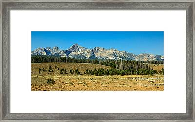 The Sawtooths Framed Print by Robert Bales