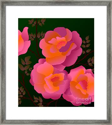 Framed Print featuring the digital art The Scent Of Roses by Latha Gokuldas Panicker