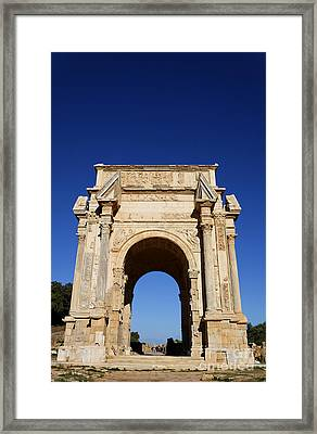 The Septimus Severus Arch At Leptis Magna In Libya Framed Print