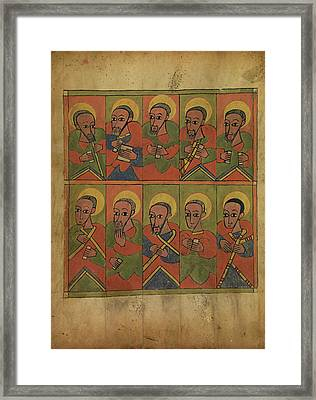 The Seventy-two Disciples Unknown Ethiopia Framed Print by Litz Collection